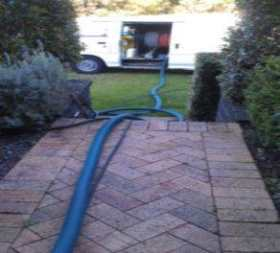 About the Cleaning process Hoses run to house
